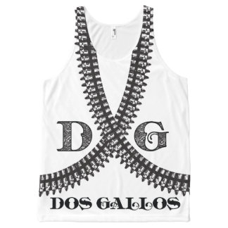 Dos Gallosの弾丸ベルトタンク オールオーバープリントタンクトップ