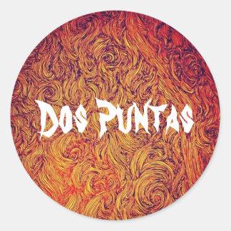 Dos Puntasのステッカー ラウンドシール
