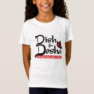 Dosha個人的なAyurvedicのシェフのための皿 Tシャツ