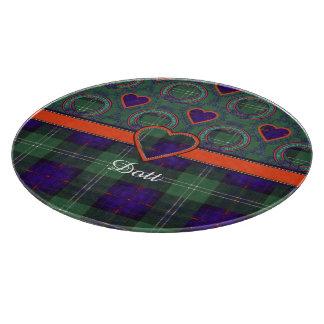 Dottの一族の格子縞のスコットランドのキルトのタータンチェック カッティングボード