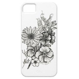 Dotworkによっては芸術の電話箱が開花します iPhone SE/5/5s ケース