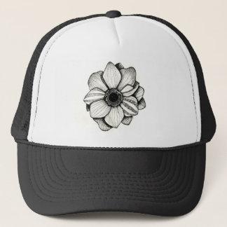 Dotworkの花のトラック運転手の帽子 キャップ