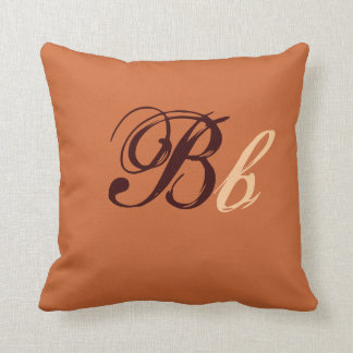 Double B Monogram in Brown and Beige I クッション