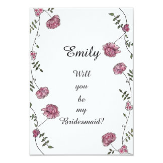Double sided Will you be my bridesmaid card カード