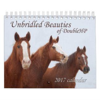 DoubleHPの2017のカレンダーの放逸な美しい カレンダー