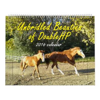 DoubleHP 2016のカレンダーの放逸な美しい カレンダー
