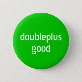 doubleplusgoodボタン 5.7cm 丸型バッジ