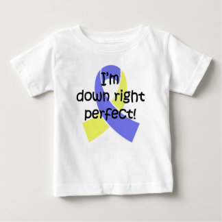 Down Right Perfect, Down Syndrome Awareness ベビーTシャツ