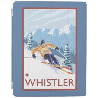 Downhhillの雪のスキーヤー-ホイスラー、紀元前にカナダ iPadスマートカバー