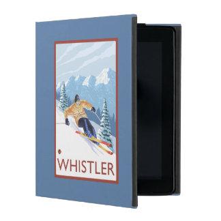 Downhhillの雪のスキーヤー-ホイスラー、紀元前にカナダ iPad ケース
