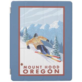 Downhhillの雪のスキーヤー-山のフード、オレゴン iPadスマートカバー