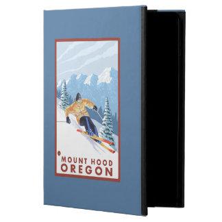 Downhhillの雪のスキーヤー-山のフード、オレゴン iPad Airケース