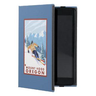 Downhhillの雪のスキーヤー-山のフード、オレゴン iPad Mini ケース