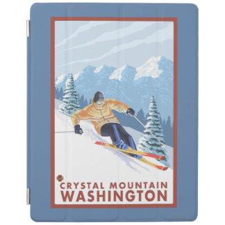 Downhhillの雪のスキーヤー-水晶山、WA iPadスマートカバー