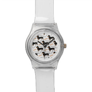 Doxieかわいいダックスフントかパターン 腕時計