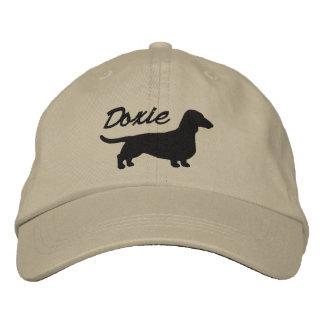 Doxieのダックスフントのシルエット 野球キャップ