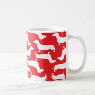 Doxie愛のためのかわいいダックスフントパターン完全なギフト コーヒーマグカップ