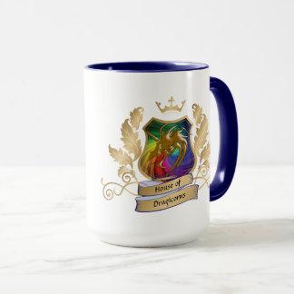 Dragicornsの頂上の金ゴールドの虹の葉の家 マグカップ