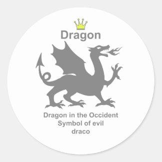 dragon 龍 竜 ラウンドシール