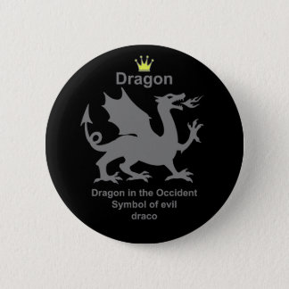 dragon 龍 竜 5.7cm 丸型バッジ