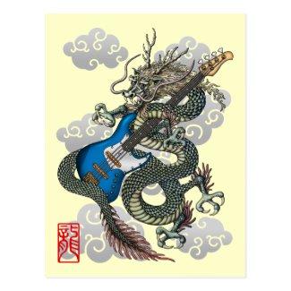 dragon bass 葉書き
