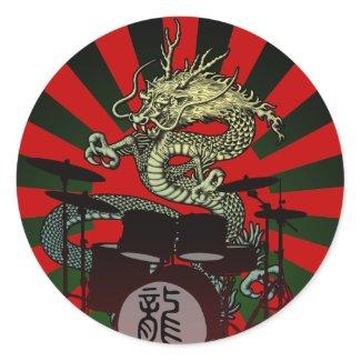 Dragon Drum 2 丸形シールステッカー