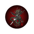 Dragon katana3 ラウンド壁時計