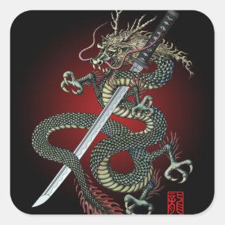 Dragon katana スクエアシール