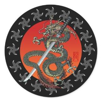 Dragon katana 2 シール・ステッカー