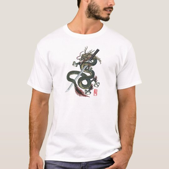Dragon katana tシャツ