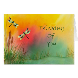 Dragonfly Thinking Of You Card カード