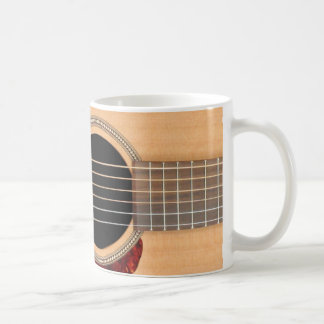 Dreadnoughtの音響の6つのひものギター コーヒーマグカップ