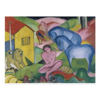 「Dreamと資格を与えられるヴィンテージのファンタジーの絵を描くこと ポストカード