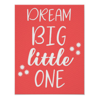 Dream Big Little One Baby Nursery Wall Art Poster ポスター