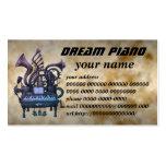 dream piano 名刺テンプレート