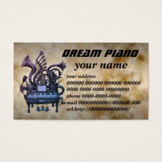 dream piano 名刺