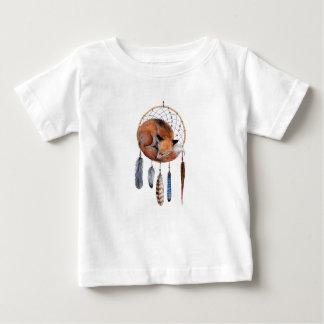 Dreamcatcherで眠っているアカギツネ ベビーTシャツ