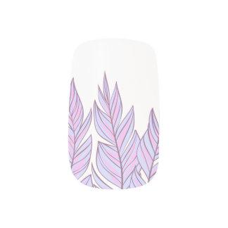 Dreamcatcherのボヘミアのピンクの紫色の羽 ネイルアート