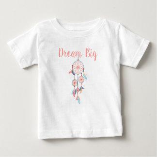 Dreamcatcherの夢の大きいボヘミアの夢のキャッチャー ベビーTシャツ