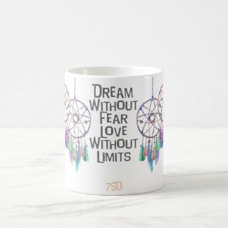Dreamcatcherの水彩画の引用文 コーヒーマグカップ