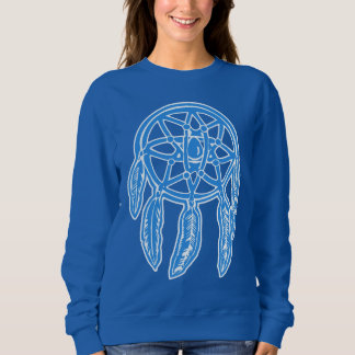 Dreamcatcherの青い女性のスエットシャツ スウェットシャツ