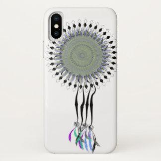 Dreamcatcherの青及び灰色 iPhone X ケース