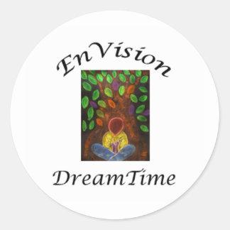 DreamTimeのステッカーを想像して下さい ラウンドシール