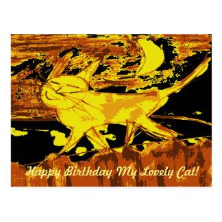Dreamy Cat Happy Birthday Cards ポストカード