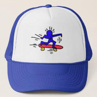 DreamySupplyのポップアートのスケートボードの人のロイヤルブルーの帽子 キャップ