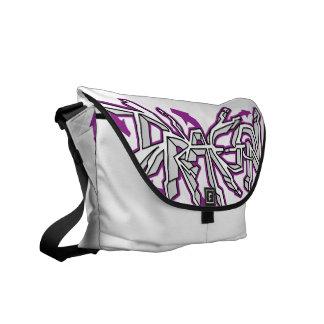 Drgn Iの象牙色の(紫色の)メッセンジャーバッグ メッセンジャーバッグ