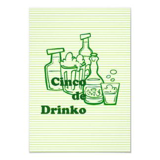 Drinko Cinco Cinco deメーヨーのパーティの招待状 カード