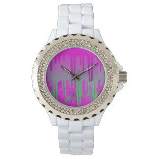 Drippinのピンクのペンキ 腕時計