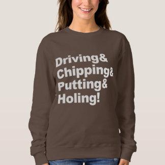Driving&Chipping&Putting&Holing (白い) スウェットシャツ
