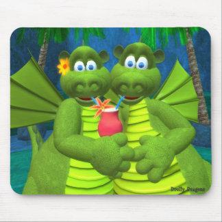 Drollyドラゴン: カップル マウスパッド